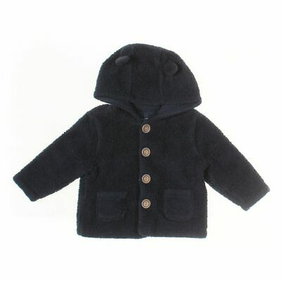 babyGap Baby Boys Hoodie, size 6 mo,  blue/navy,  cotton, polyester