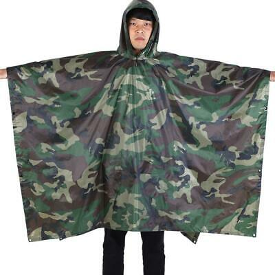 """Lightweight Ripstop Flecktarn Camouflage Poncho Roughly measures  87/"""" x 59/"""""""