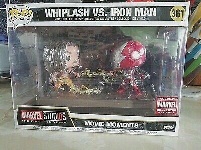 Funko Pop Marvel Usa Collector Corp Exclusive Movie Moment-Whiplash V Ironman-Uk