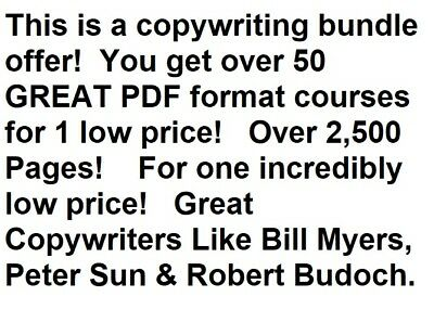 Copywriting Bundle - over 50 courses, - 2,500 pages on CDROM