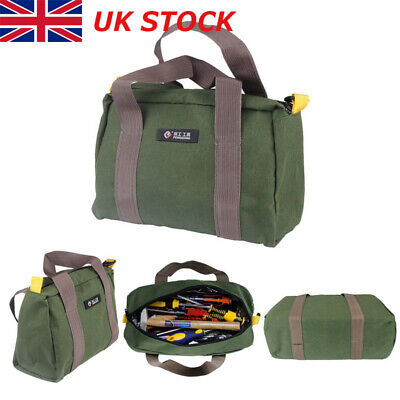 """18/"""" CANVAS TOOL BAG Heavy Cotton Canvas Strong Webbing Handles 460 x 180 x 130mm"""