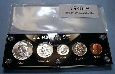 1948 MINT SILVER SET of U.S. COINS CHOICE to GEM BRILLIANT UNCIRCULATED LUSTROUS