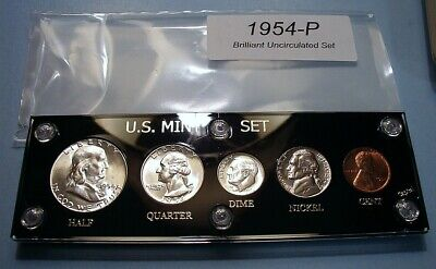 1954 MINT SILVER SET of U.S. COINS LUSTROUS CHOICE to GEM BRILLIANT UNCIRCULATED