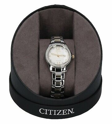 Citizen Two Tone 30mm Stainless Steel Water Resistant Eco-Drive Watch FE1144-85B