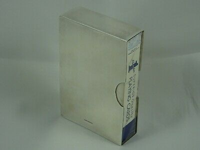 RARE, solid silver PLAYING CARD CASE, 1994, 139gm