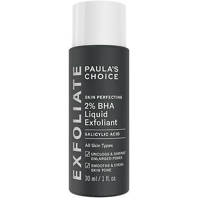 Paulas Choice Skin Perfecting 2% BHA Liquid Salicylic Acid Exfoliant New 30ml