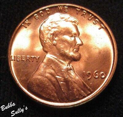 1960 Small Date Lincoln Cent <> UNCIRCULATED Red