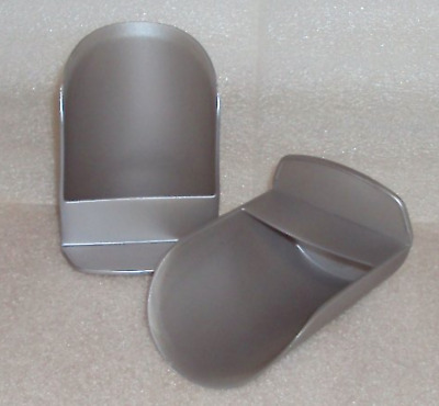 Tupperware Rocker Scoops set of 2 Silver Flour Sugar Dry Goods Pet Food + New