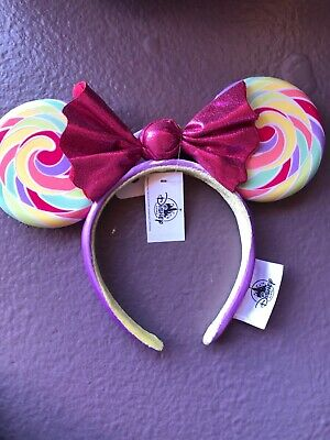 Disney Parks Mickey Minnie Mouse Lollipop Ears Headband NEW With Tags