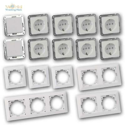 Milos Flush-Mounted In-Wall Starter-Kit pro 16 Piece Set Switch Sockets