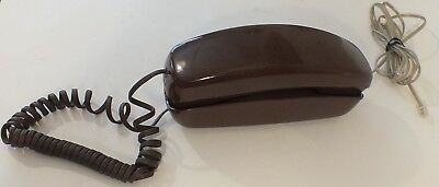 Vintage Bell System Western Electric Push Button Trimline Brown Telephone