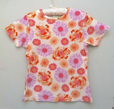 HTF BABY LULU Vintage Womens XL 6 8 10 Mom Match Daughter Floral Knit Top Shirt