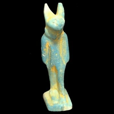 Beautiful Ancient Egyptian Blue Amulet 300 Bc (29)