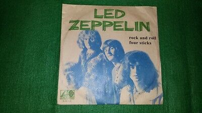 Led Zeppelin Portuguese Single 7/45 Rock And Roll Four Sticks Portugal Rare