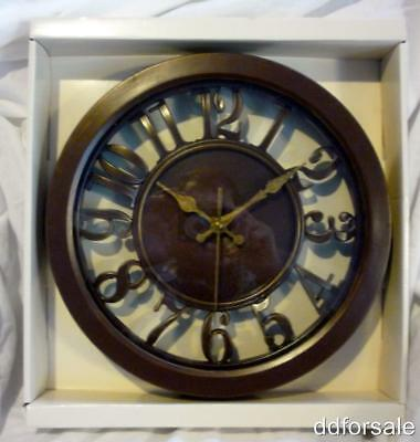 """Decorative 12"""" Wall Clock Glass Covered Face"""