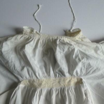 Good Vintage Victorian, Edwardian Off White Cotton Lace Gown, Christening Gown
