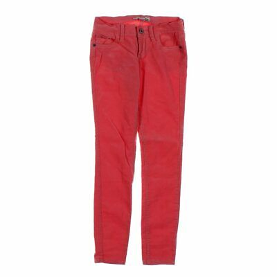 Old Navy Girls  Corduroy Pants size JR 0,  red,  cotton, spandex