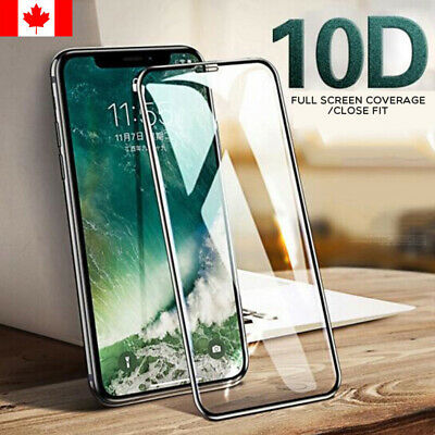 10D Full Curved Tempered Glass Screen Protector For iPhone XR XS MAX 8 7 6S Plus