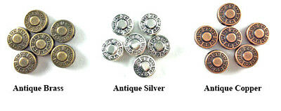 Antique Copper Silver Plated Lead Free 9mm Decorative Aztec Dot Coin Beads Q40