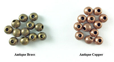 6mm Smooth Round Antique Brass Antique Copper Plated Lead Safe Alloy Beads Q60