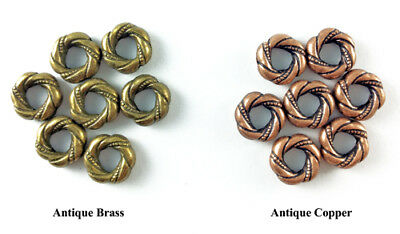 11mm Decorative Thick Ring Bead Antique Brass Copper Plated Lead Safe Alloy Q30