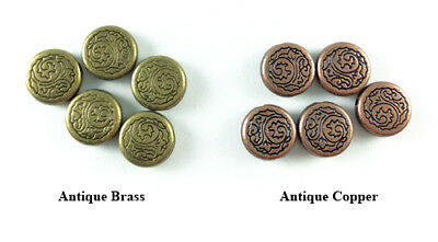 11mm Ocean Wave Coin Thick Bead Antique Brass Copper Plated Lead Safe Alloy Q20