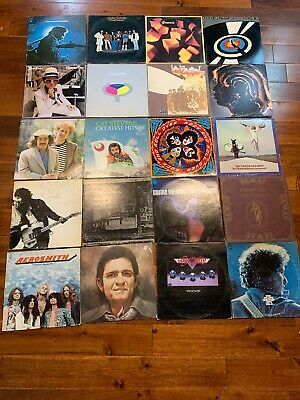 20 LP Classic Rock Lot KISS Rolling Stones Dylan Led Zeppelin Eagles Aerosmith