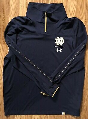 a359bee58c209a Notre Dame Football Team Issued Under Armour 1 4 Zip Jacket Xl Denson
