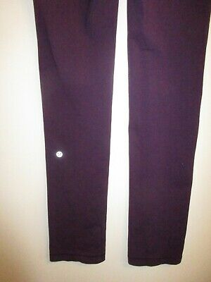 6f57baa34685ad Lululemon Athletica 8 Yoga Skinny Will Pant Leggings Dark Royal Purple  Stretchy
