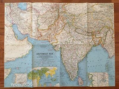 ORIGINAL 1963-05 MAY National Geographic MAP SUPPLEMENT ...