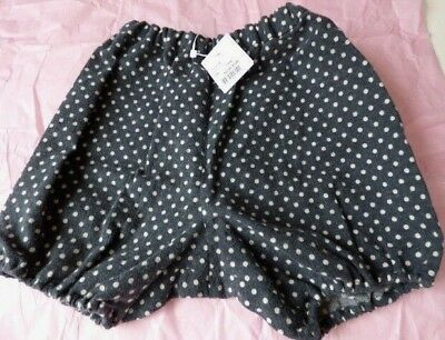 Bonpoint baby bloomers 3M 6M nappy cover pants polkadot cotton shorts NEW grey