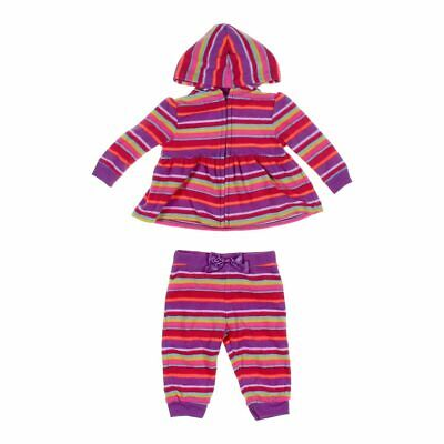 a751454fd Garanimals Baby Girls Hoodie & Sweatpants Set, size 3 mo, pink, purple