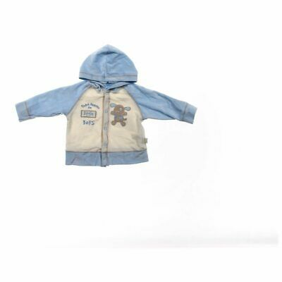 Duck Duck Goose Baby Boys Hoodie, size 6 mo,  light blue, white,  cotton