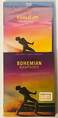 Bohemian Rhapsody (Blu-ray+DVD+Digital) BRAND NEW FACTORY SEALED