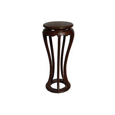 Chinese Brown Tall Round 5 Legs Plant Stand Pedestal Table cs4366