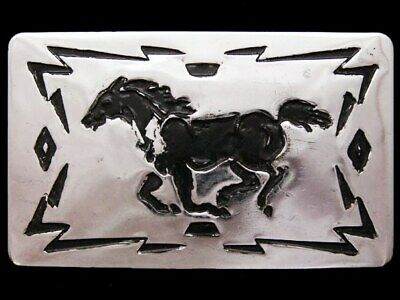 JE29117 VINTAGE 1970s CHAMBERS SOUTHWESTERN STYLE **RUNNING HORSE** BELT BUCKLE