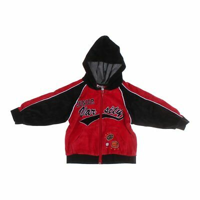 Tuff Guys Baby Boys  Hoodie, size 24 mo,  black, red,  cotton, polyester