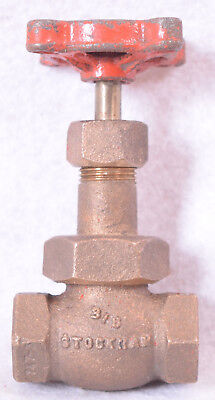 "Stockham 3/8"" Brass Globe Valve Fig. B-64"