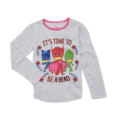PJ Masks Girls Licensed long sleeve tee t shirt top New Free postage