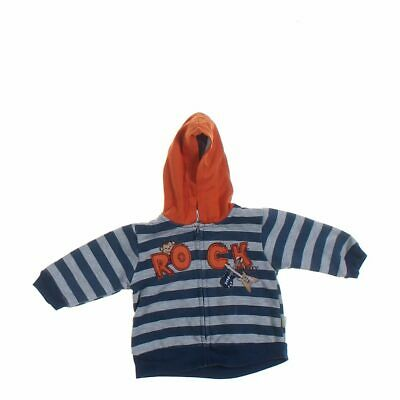 Duck Duck Goose Baby Boys Hoodie, size 6 mo,  blue/navy, grey,  cotton