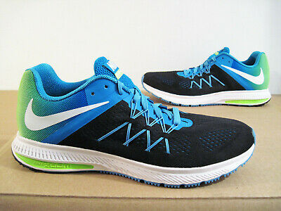 50a5d3c9241a Nike Zoom Winflo 3 Training Running Shoe Sneaker Mens Size 12 Black Blue  Green