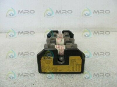 Bussmann T60060-3Cr Fuse Block (As Pictured) * Used *