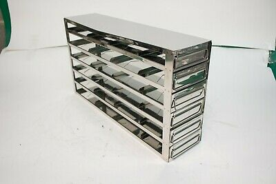 """NEW Panasonic Upright Stainless Freezer Rack w/ Drawers for 20-2"""" Boxes"""