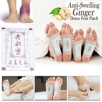 10Patch Natural Ginger Detox Foot Pads Adhesive Patch Organic Herbal Health Care