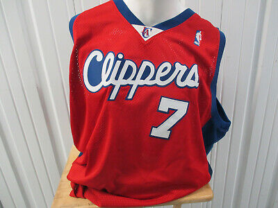 85fb34724 Vintage Reebok Authentic Los Angeles Clippers Lamar Odom  7 Sewn Sz 56  Jersey