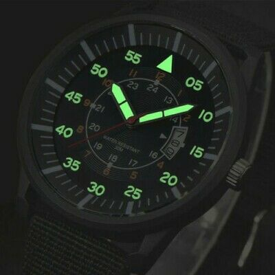 Militare Uomo Acciaio Inox Luminoso Quadrante Display con Data Sport