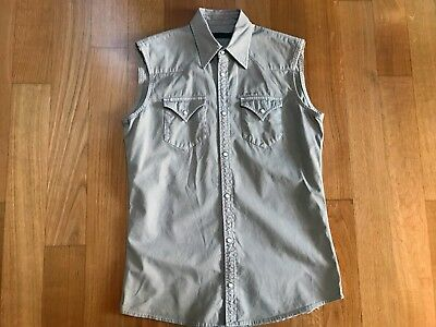 "S/S 2009 Dsquared² ""West"" Sleeveless Shirt Camicia Sz. 48"