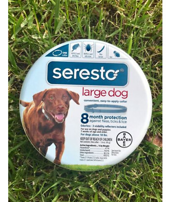 Seresto Flea & Tick Collar for Large Dogs OVER 18lbs 100% EPA US APPROVED!!!