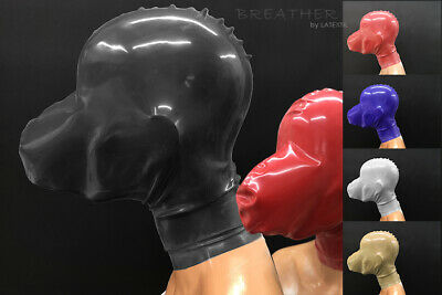 ----- LATEXTIL ----- BREATHER - Latexmaske - breath play mask - NEW