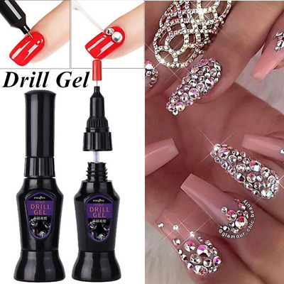 Strong Nail Art Rhinestone Glue Gel Adhesive Resin Gem Crystal Polish Decor